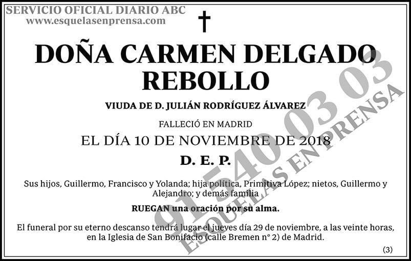 Carmen Delgado Rebollo